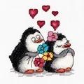 Klart Penguin Love Cross Stitch Kit