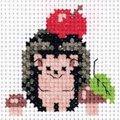 Klart Hedgehog and Apple Cross Stitch Kit
