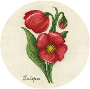 Panna Small Bunch of Tulips Floral Cross Stitch Kit