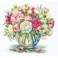 Panna Luxury Peonies Floral Cross Stitch Kit
