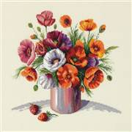 Panna Morning Poppies Cross Stitch Kit