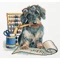 Panna Accountant Pup Cross Stitch Kit