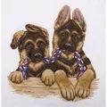 Panna Alsatian Twins Cross Stitch Kit