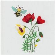 Panna Bee and Poppies Embroidery Kit