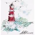 Panna Watercolour Lighthouse Cross Stitch Kit