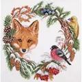 Panna Winter Wildlife Wreath Christmas Cross Stitch Kit
