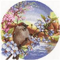 Panna Sunrise Sparrow Cross Stitch Kit