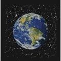 Panna Planet Earth Cross Stitch Kit