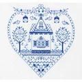 Panna Heart House Sampler Cross Stitch Kit