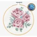 DMC Peonies Floral Cross Stitch Kit