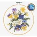 DMC Violets Floral Cross Stitch Kit