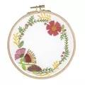 DMC Autumn Flowers Floral Embroidery Kit