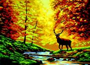 Gobelin-L Autumn Stag Tapestry Canvas