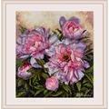 Merejka Tender Peonies Floral Cross Stitch Kit