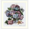 Merejka Hydrangea Floral Cross Stitch Kit