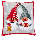 Vervaco Christmas Gnomes Cushion Cross Stitch Kit