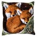 Vervaco Foxes Cushion Christmas Cross Stitch Kit