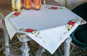 Vervaco Christmas Flowers Tablecloth Cross Stitch Kit