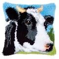Vervaco Cow Latch Hook Cushion Latch Hook Kit
