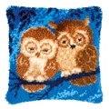 Vervaco Cuddling Owls Latch Hook Cushion Latch Hook Kit