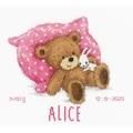 Vervaco Sweet Bear Sampler Birth Sampler Cross Stitch Kit