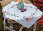 Vervaco Flowers and Butterflies Tablecloth Cross Stitch Kit