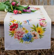 Vervaco Colourful Flowers Runner Cross Stitch Kit
