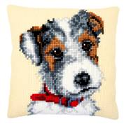 Vervaco Dog with Red Collar Cushion Cross Stitch Kit