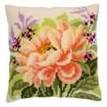 Vervaco Peony Cushion Floral Cross Stitch Kit