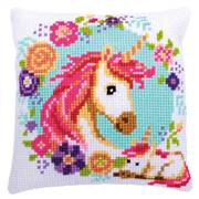 Vervaco Mother and Baby Unicorn Cushion Cross Stitch Kit
