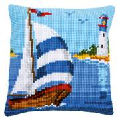 Vervaco Sailboat Cushion Cross Stitch Kit
