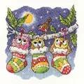 Heritage Christmas Hoot- Aida Cross Stitch Kit