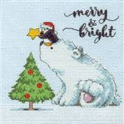 Dimensions Merry and Bright Bear Christmas Cross Stitch Kit
