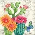 Dimensions Cactus Bloom Floral Cross Stitch Kit