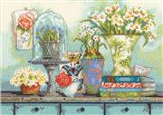 Dimensions Garden Collectibles Floral Cross Stitch Kit