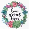 Dimensions Succulent Wreath Floral Cross Stitch Kit