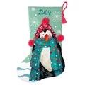 Dimensions Fuzzy Penguin Stocking Tapestry Kit