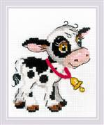 RIOLIS Calf with a Bell Cross Stitch Kit