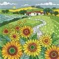 Heritage Sunflower Landscape - Aida Cross Stitch Kit