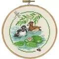 Permin Ducks and Lilies Cross Stitch Kit