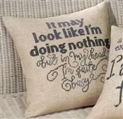 Permin Quite Busy Pillow Cross Stitch Kit