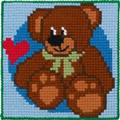 Permin Teddy Cross Stitch Kit