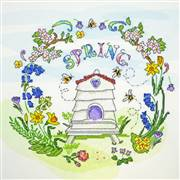 Bothy Threads Spring Time Floral Cross Stitch Kit