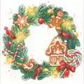 RIOLIS Gingerbread Wreath Christmas Cross Stitch Kit