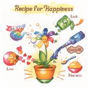 RIOLIS Recipe for Happiness Floral Cross Stitch Kit