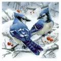 RIOLIS Blue Jays Christmas Cross Stitch Kit