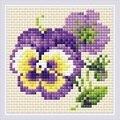 RIOLIS Pair of Pansies Floral Craft Kit
