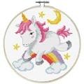 Needleart World Unicorn Frolic No Count Cross Stitch Kit