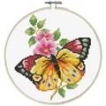 Needleart World Butterfly Bouquet No Count Cross Stitch Kit