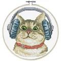 Needleart World DJ Kitty No Count Cross Stitch